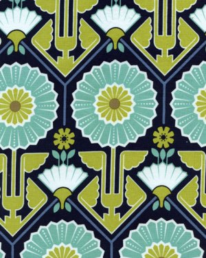Joel Dewberry Modern Meadow Fabric - Sunflower - Lake