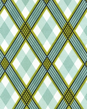 Joel Dewberry Modern Meadow Fabric - Picnic Plaid - Pond