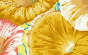 Philip Jacobs Moon Flower Fabric - Yellow