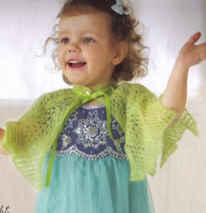 Debbie Bliss Angel Children's Lace Capelet Kit - Baby and Kids Cardigans