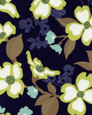 Joel Dewberry Modern Meadow Fabric - Dogwood Bloom - Lake