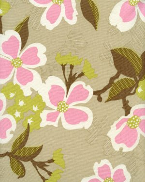 Joel Dewberry Modern Meadow Fabric - Dogwood Bloom - Pink