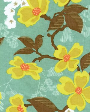 Joel Dewberry Modern Meadow Fabric - Dogwood Bloom - Sunglow