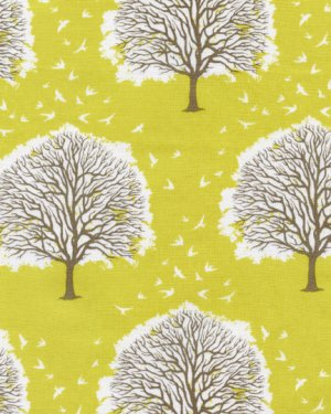 Joel Dewberry Modern Meadow Fabric - Majestic Oak - Sunglow