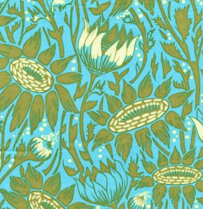 Anna Maria Horner Loulouthi Fabric - Coreopsis - Moss