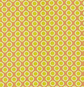 Anna Maria Horner Loulouthi Fabric - Hugs and Kisses - Pink Limes