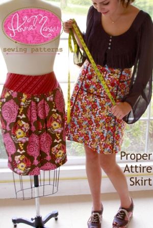 Anna Maria Horner Anna Maria Sewing Patterns - Proper Attire Skirt Pattern