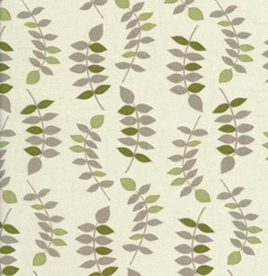 Valori Wells Jenaveve Linen Fabric - Leaves - Sage