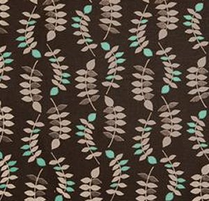 Valori Wells Jenaveve Linen Fabric - Leaves - Steel Grey