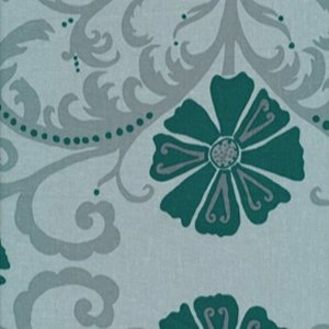 Valori Wells Jenaveve Linen Fabric - Tribal Floral - Teal