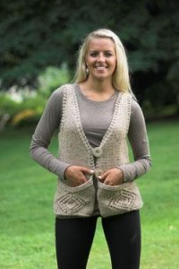 Plymouth Adult Vest Patterns - 2228 Woman's Vest with Pockets Pattern