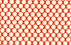 Amy Butler Lotus Fabric - Full Moon Polka Dot - Cherry