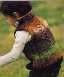Noro Hitusji Kids Sleeveless Sweater Kit - Baby and Kids Vests