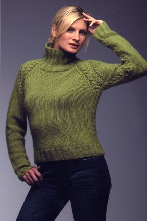 Karabella Supercashmere Raglan with Cables Kit - Women's Pullovers