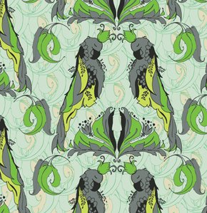 Tina Givens Pernilla's Journey Fabric - Royal Parrot - Aquamarine