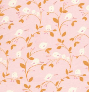 David Walker Baby Talk Fabric - Birdies - Pink