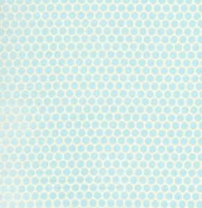David Walker Baby Talk Fabric - Polka Dots - Blue