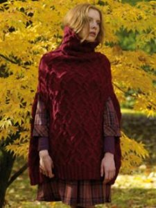 Rowan Felted Tweed Aran Hawthorn Cape Coat Kit - Women's Pullovers
