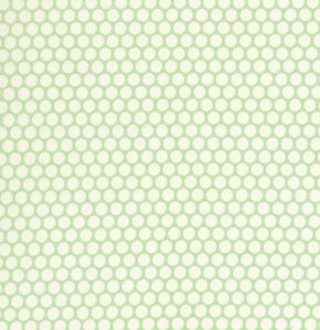 David Walker Baby Talk Fabric - Polka Dots - Green
