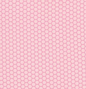 David Walker Baby Talk Fabric - Polka Dots - Pink