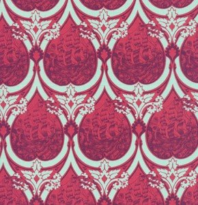 Tula Pink Parisville Fabric - Sea of Tears - Pomegranate