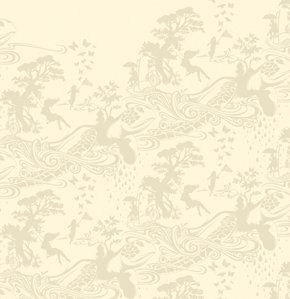 Tula Pink Prince Charming Fabric - Turtle Bay - Cream