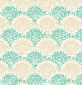 Tula Pink Prince Charming Fabric - Snail Scallop - Honey