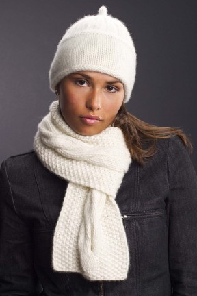 Karabella Cashmere Hat and Scarf Kit - Scarf and Shawls