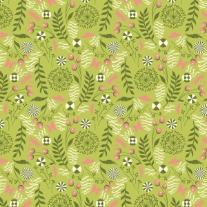 Tula Pink Prince Charming Fabric - Dandelion - Olive