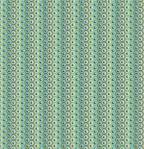 Tula Pink Prince Charming Fabric - Hex Box - Indigo