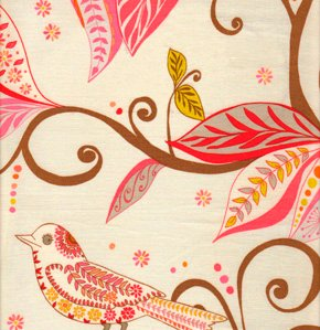 Valori Wells Wrenly Voile Fabric - Wren - Mandarin