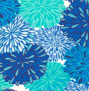Valori Wells Wrenly Voile Fabric - Bloom - Cobalt