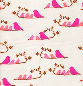 Valori Wells Wrenly Fabric - Mamma Birds - Violet