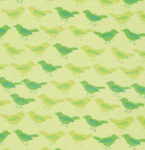 Valori Wells Nest Corduroy Fabric - Birds - Lime