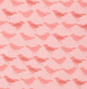 Valori Wells Nest Corduroy Fabric - Birds - Rose