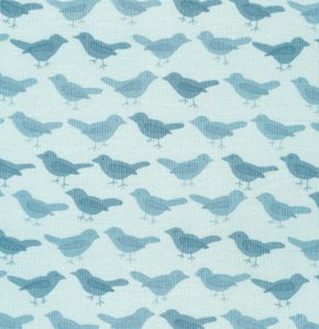 Valori Wells Nest Corduroy Fabric - Birds - Teal