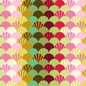 Tula Pink Parisville Laminate Fabric - Fans - Sprout