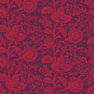Tula Pink Parisville Fabric - French Lace - Pomegranate