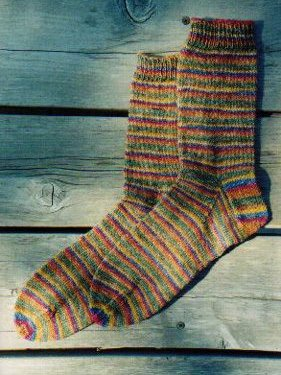Knitting Pure and Simple Sock Patterns - 216 - Beginner's Lightweight Socks Pattern
