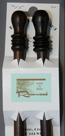 "Bryspun Rosewood Single Point Needles - US 10.5-10"" Needles"