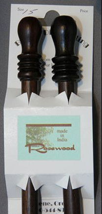 "Bryspun Rosewood Single Point Needles - US 4-14"" Needles"