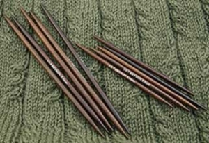 "Bryspun Rosewood Double Point Needles - US 10-7"" Needles"