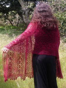 Cascade Alpaca Lace Rhodian Shawl Kit - Scarf and Shawls