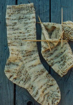 Knitting Pure and Simple Sock Patterns - 998 - Men's Heavy Weight Boot Sock Pattern