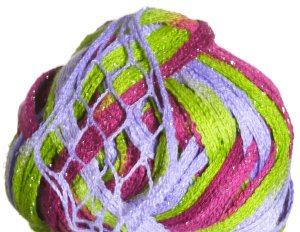 Plymouth Joy Metallic Yarn - 04 Pink/Lime