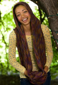 Lorna's Laces Shepherd Worsted Kanga Hood Cowl Kit - Scarf and Shawls