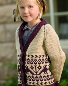 Spud and Chloe Sweater Scherenschnitte Cardigan Kit - Baby and Kids Cardigans