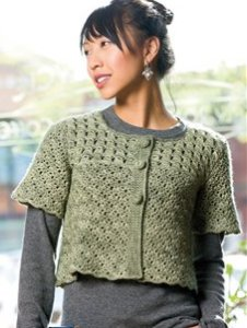 Madelinetosh Tosh Merino DK Green Chai Cardi Kit - Crochet for Adults
