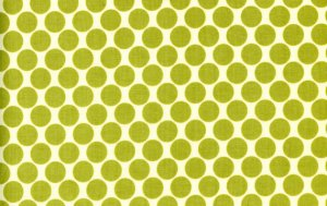 Amy Butler Lotus Fabric - Full Moon Polka Dot - Lime