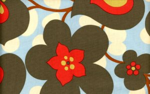 Amy Butler Lotus Fabric - Morning Glory - Linen